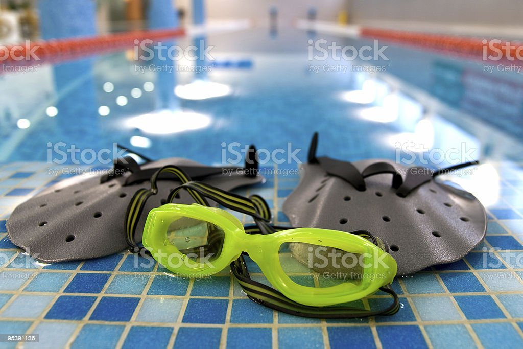 glasses and power paddle royalty-free stock photo