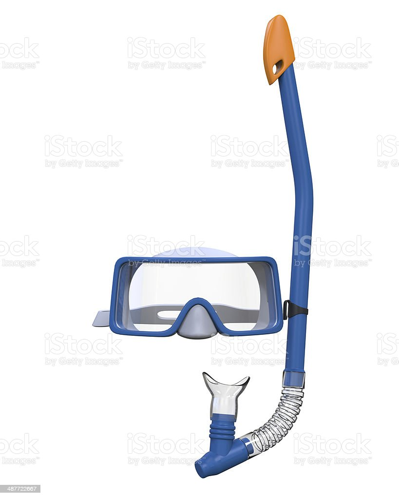 Glasses and Snorkel stock photo