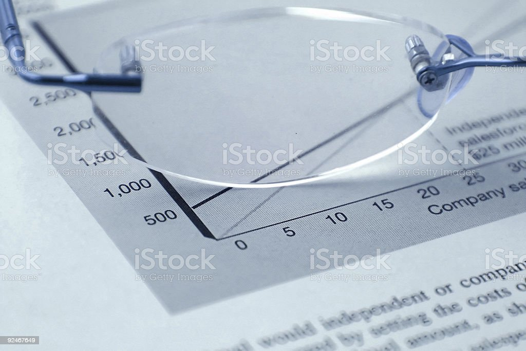 Glasses and the Budget royalty-free stock photo
