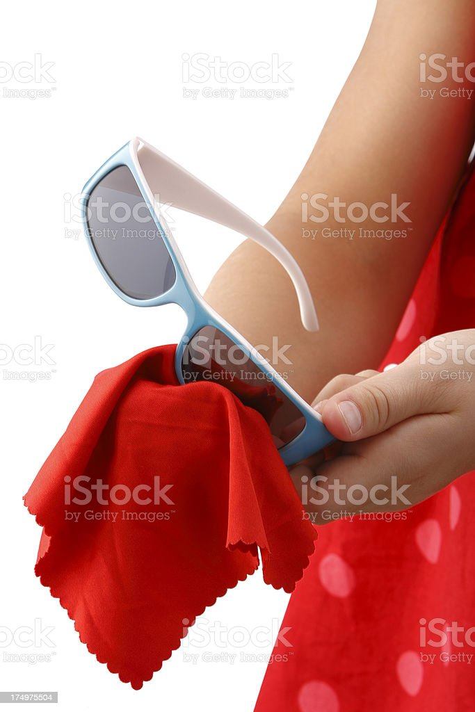 Glasses cleaning royalty-free stock photo