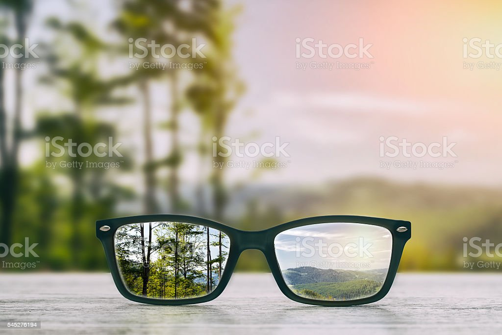 Glasses concepts. stock photo