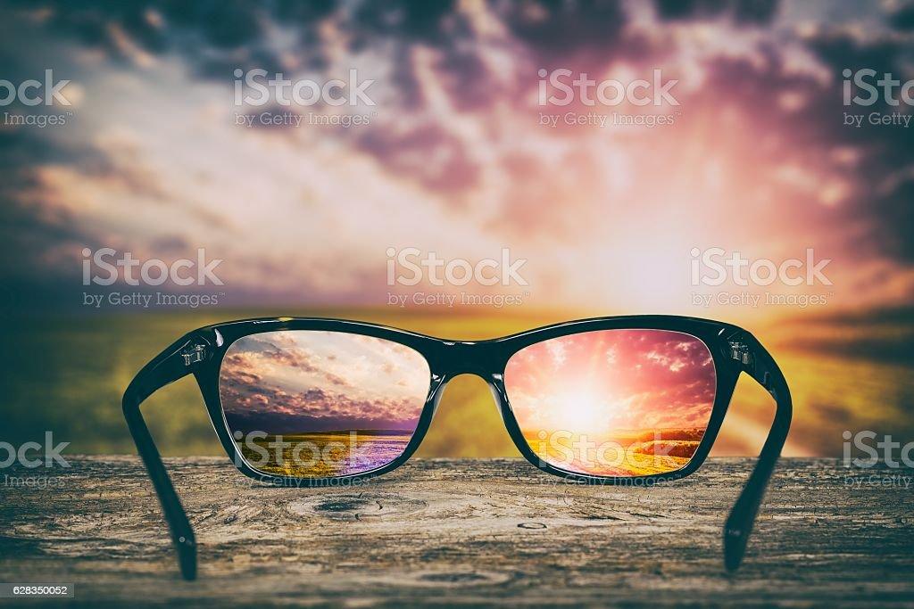 Glasses concepts. stock photo