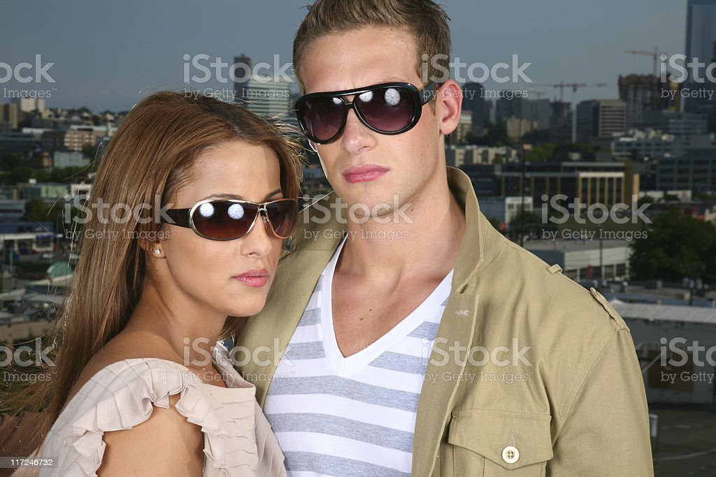 glasses couple royalty-free stock photo