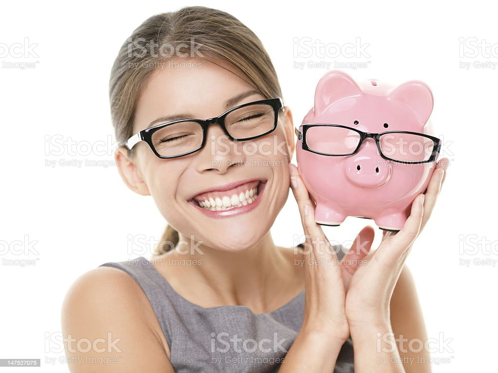 Glasses eyewear savings piggybank royalty-free stock photo