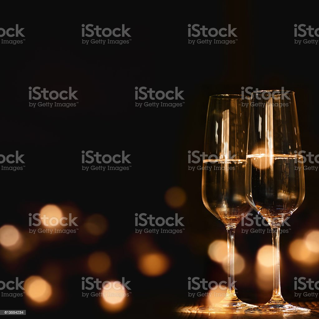 Glasses for festive occasion stock photo