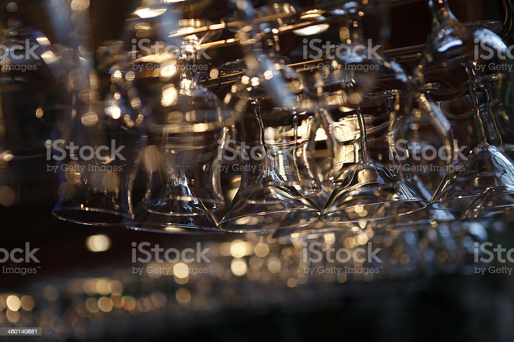 Glasses Hanging Up 2 stock photo