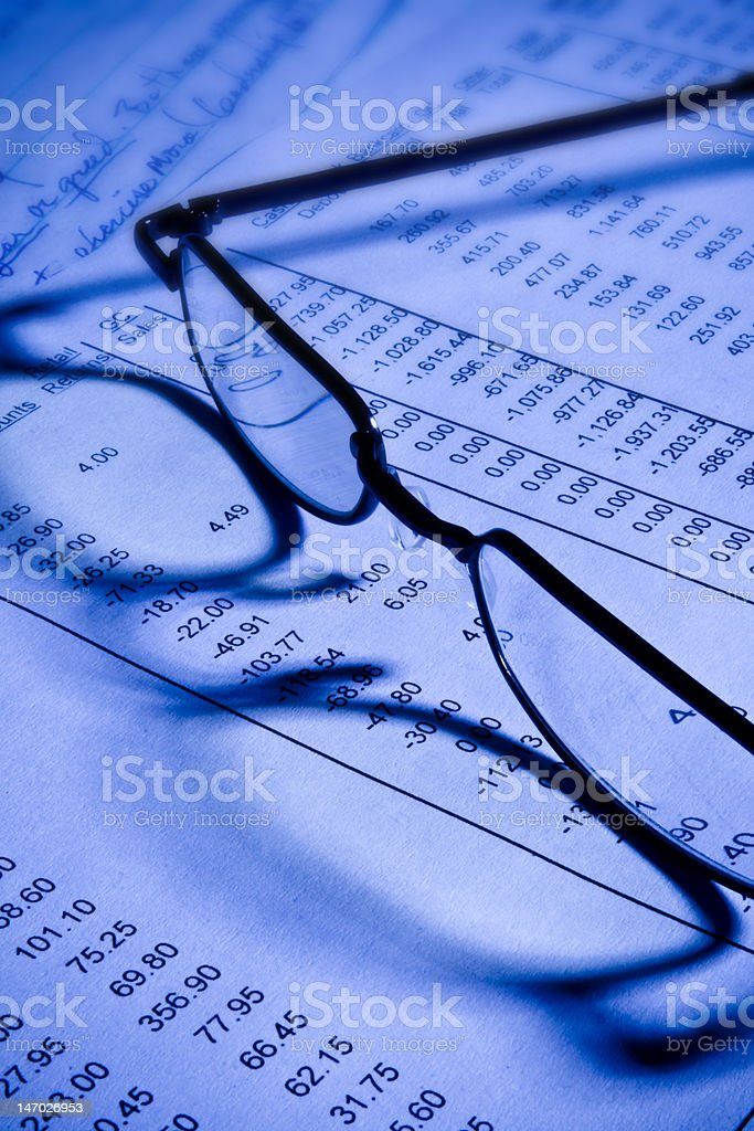 Glasses in Office 1 royalty-free stock photo