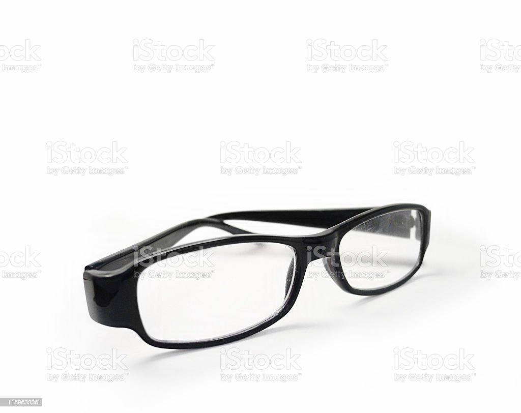 Glasses isolated - Clipping path royalty-free stock photo