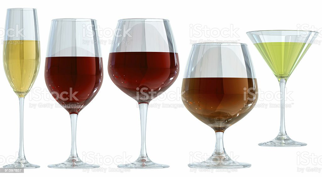 Glasses Isolated On White royalty-free stock photo
