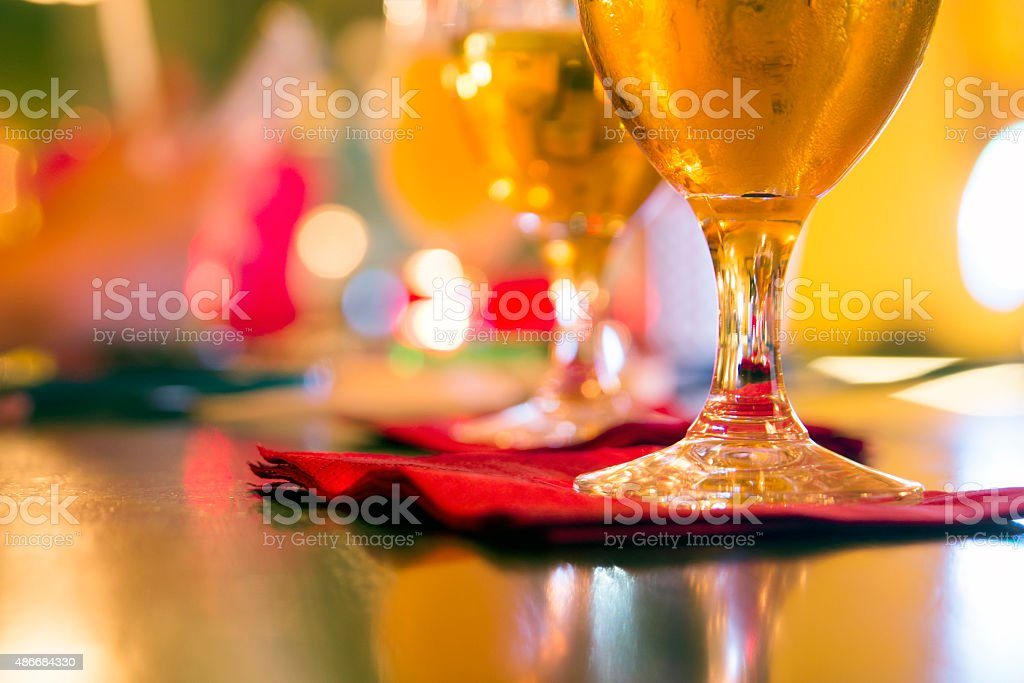 glasses of beer, Draught Beer stock photo