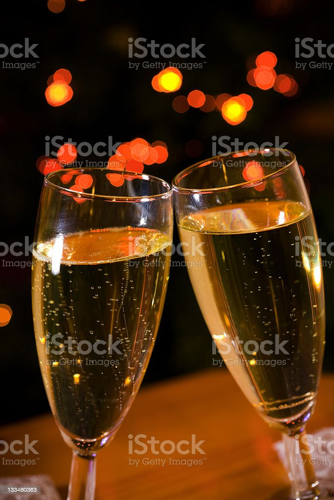 Glasses of champagne. royalty-free stock photo