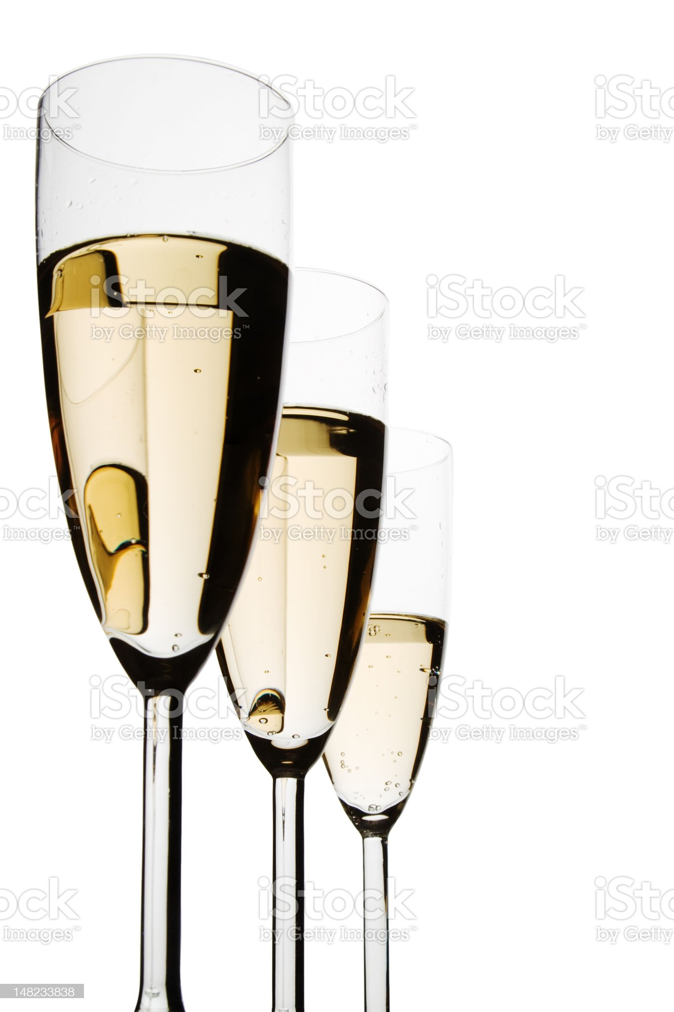 Glasses of  Champagne royalty-free stock photo