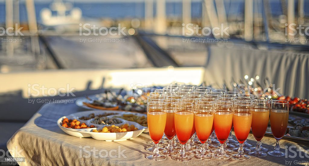 Glasses of cocktails royalty-free stock photo