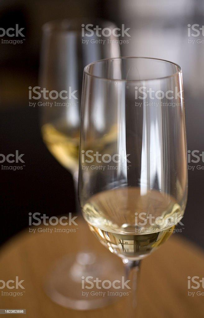 Glasses of liqueur stock photo