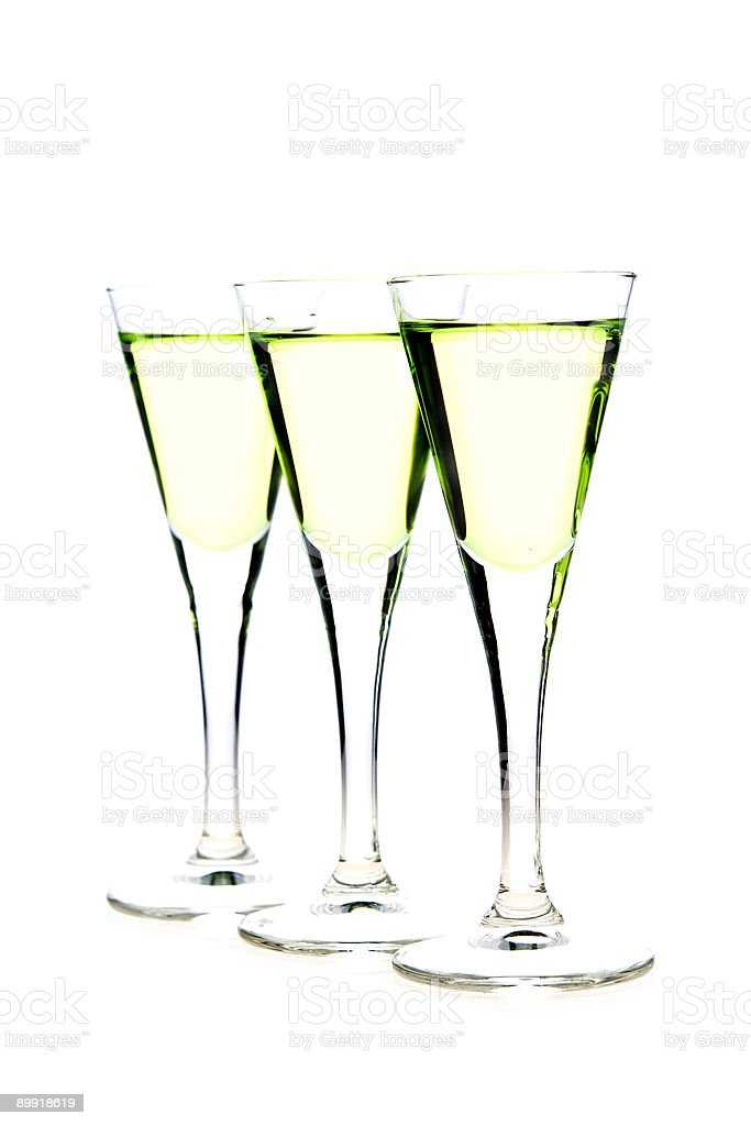 glasses of liqueur royalty-free stock photo