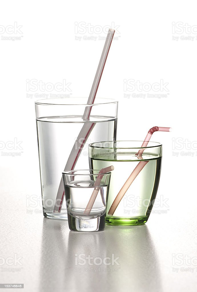 glasses of water with pipette royalty-free stock photo