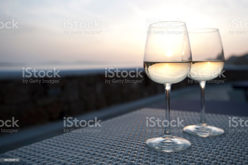 2 glasses of wine royalty-free stock photo