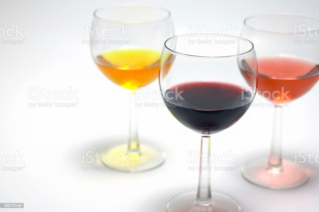 Glasses of Wine royalty-free stock photo