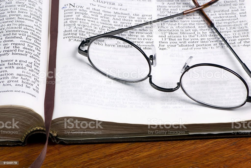 Glasses on Bible 2 royalty-free stock photo