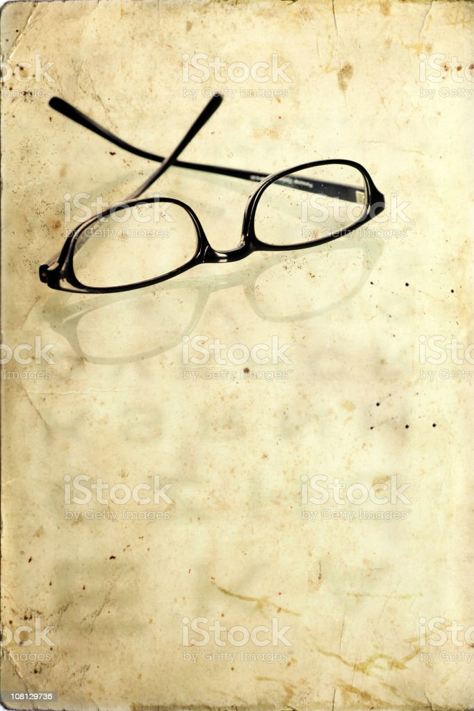Glasses on Old Background royalty-free stock photo