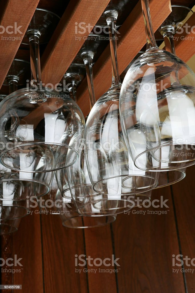 Glasses on Rack royalty-free stock photo