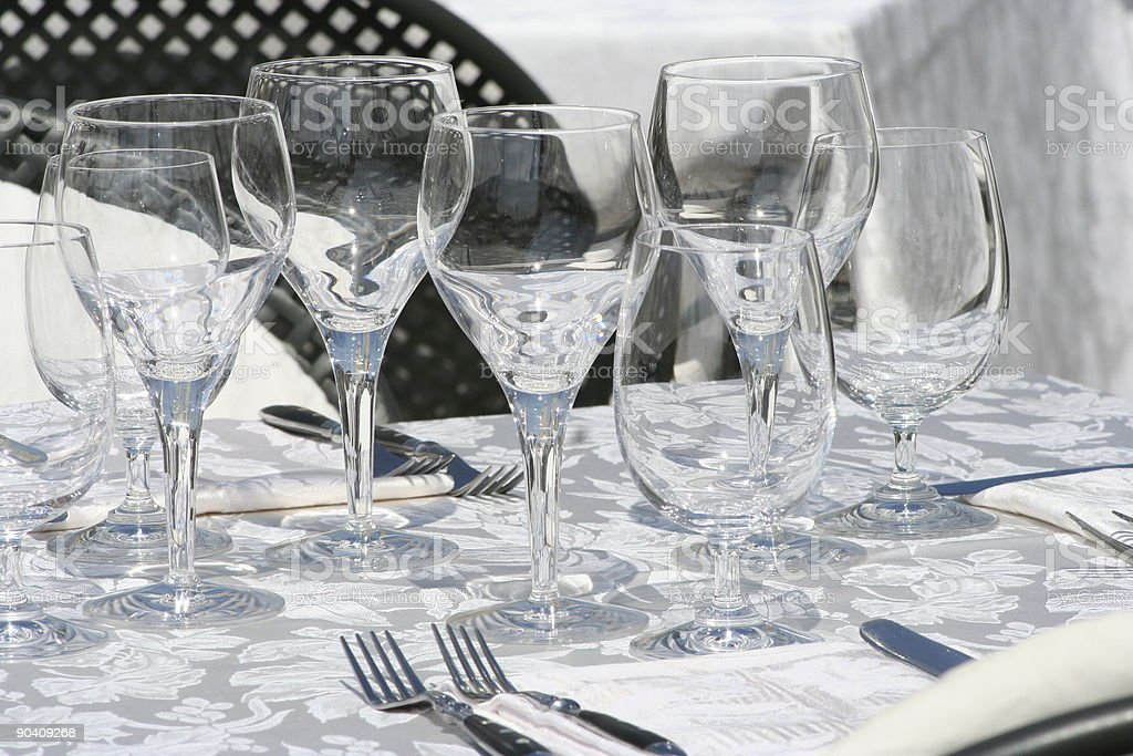 Glasses on the table royalty-free stock photo