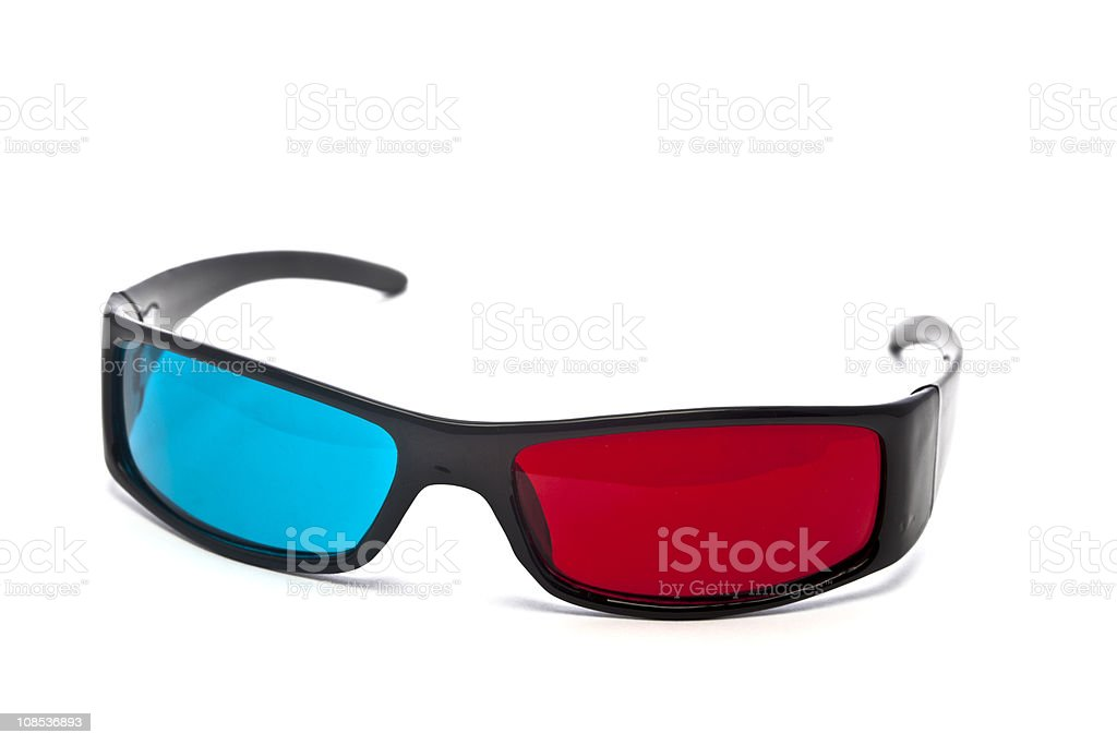 3D Glasses on White Background royalty-free stock photo