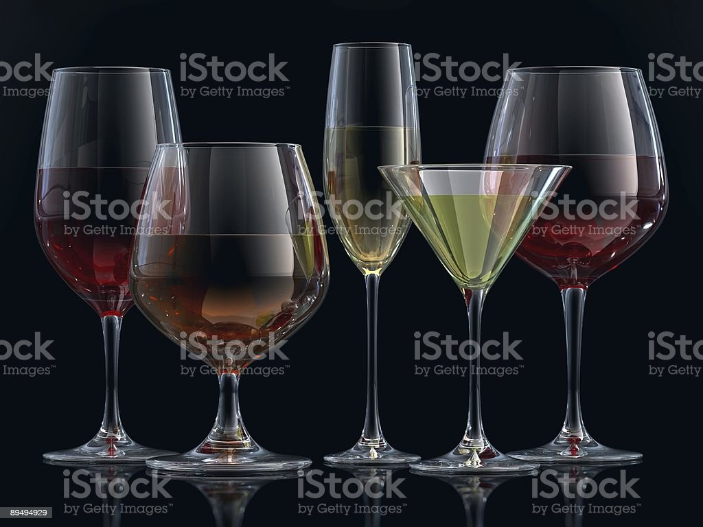 Glasses royalty-free stock photo