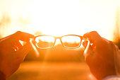 Glasses Sunset