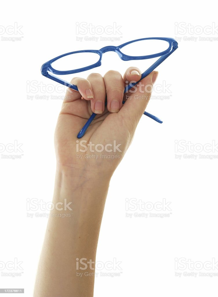 Glasses Up royalty-free stock photo