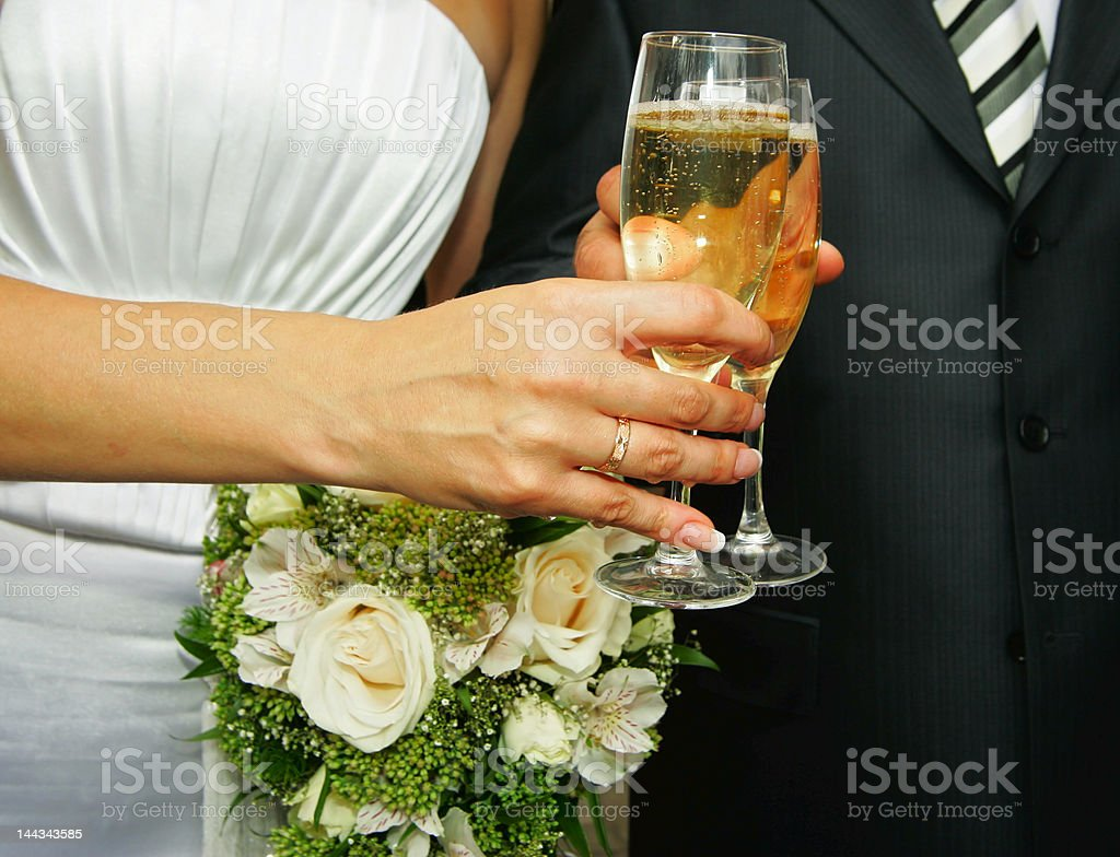 Glasses with a champagne royalty-free stock photo