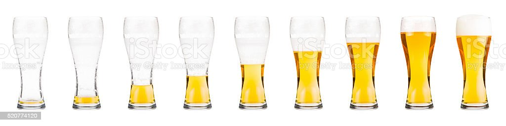Glasses with beer stock photo
