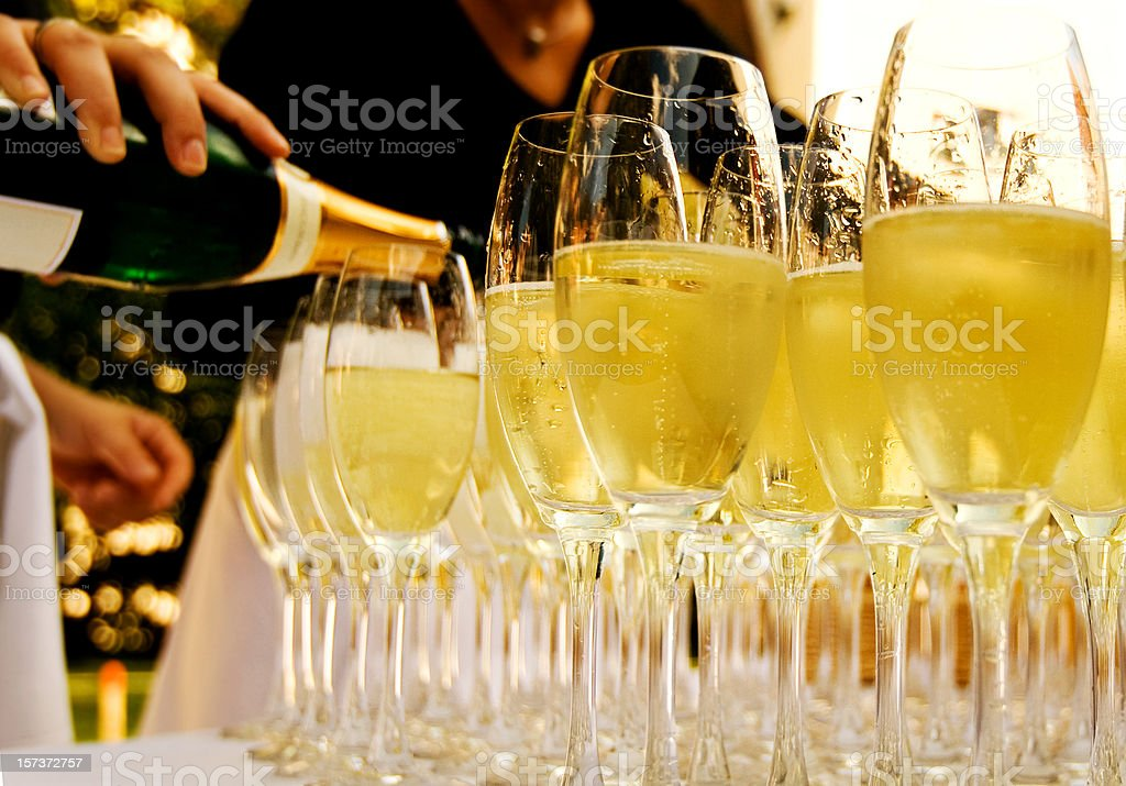 glasses with Champagne royalty-free stock photo