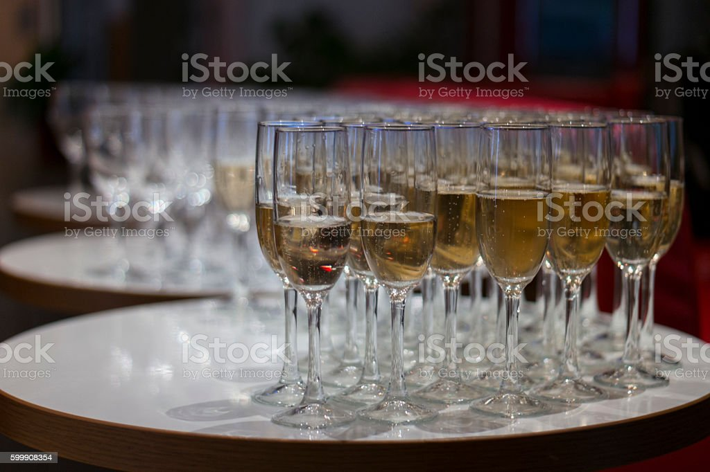 Glasses with champagne stock photo