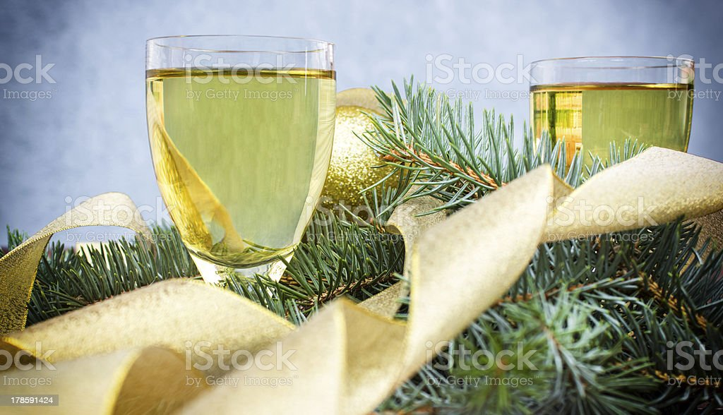 Glasses with champagne - wine royalty-free stock photo