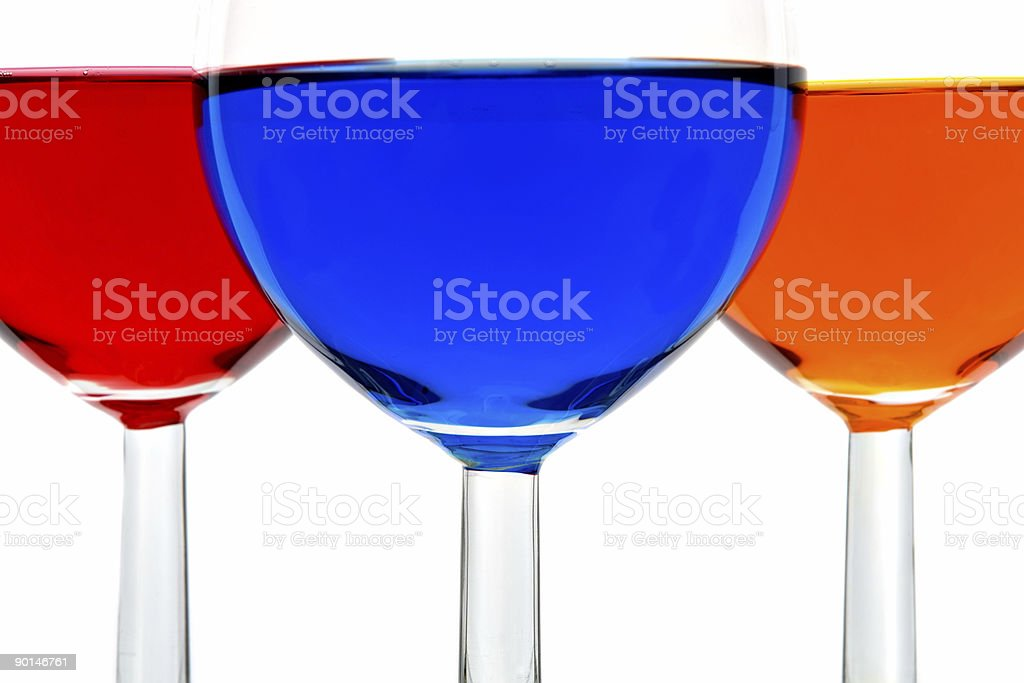 Glasses with color drinks royalty-free stock photo