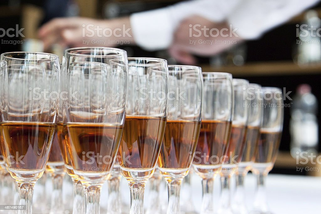 glasses with liquor stock photo