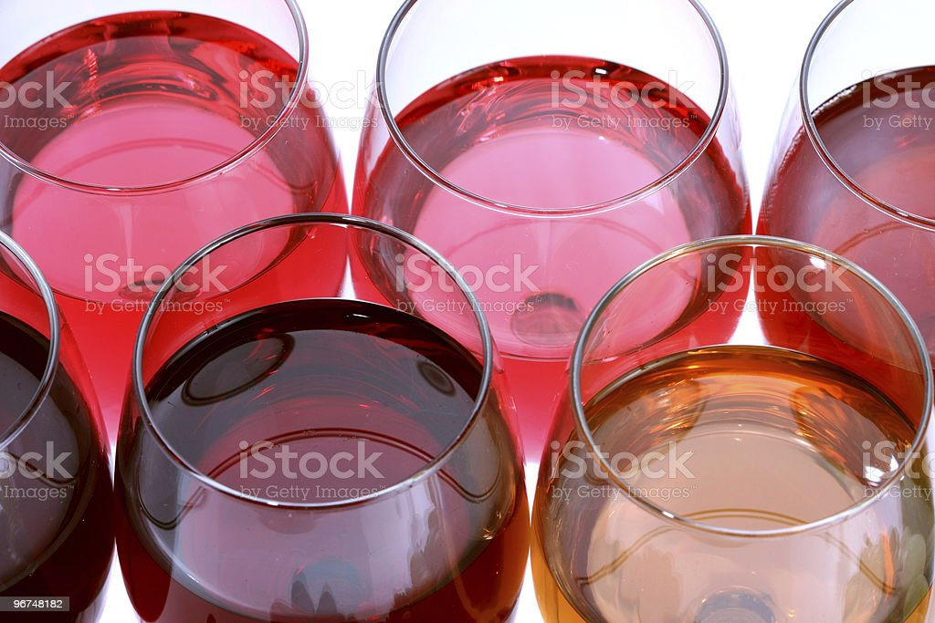 Glasses with red wine royalty-free stock photo