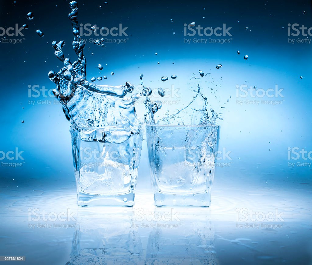 Glasses with splash stock photo