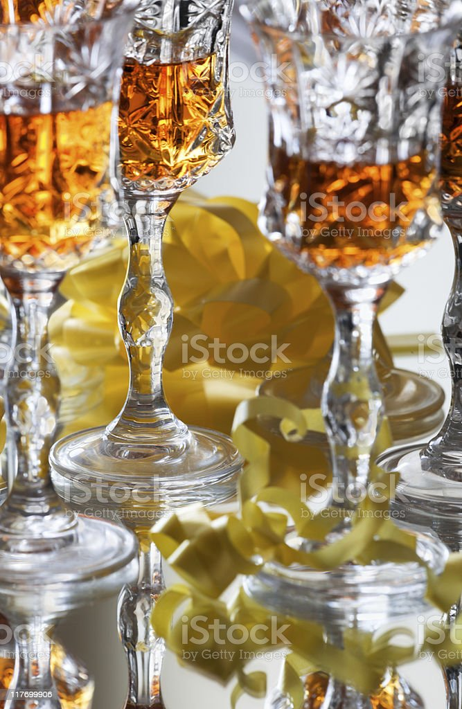 Glasses with strong liquor stock photo