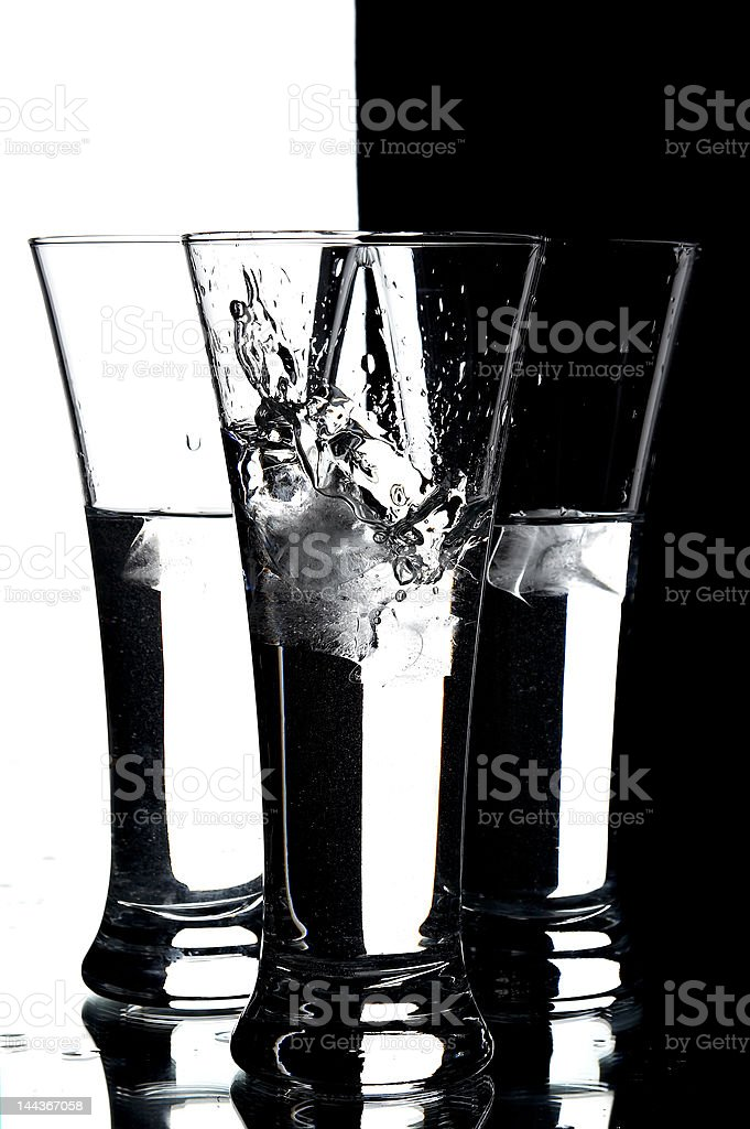 glasses with water royalty-free stock photo