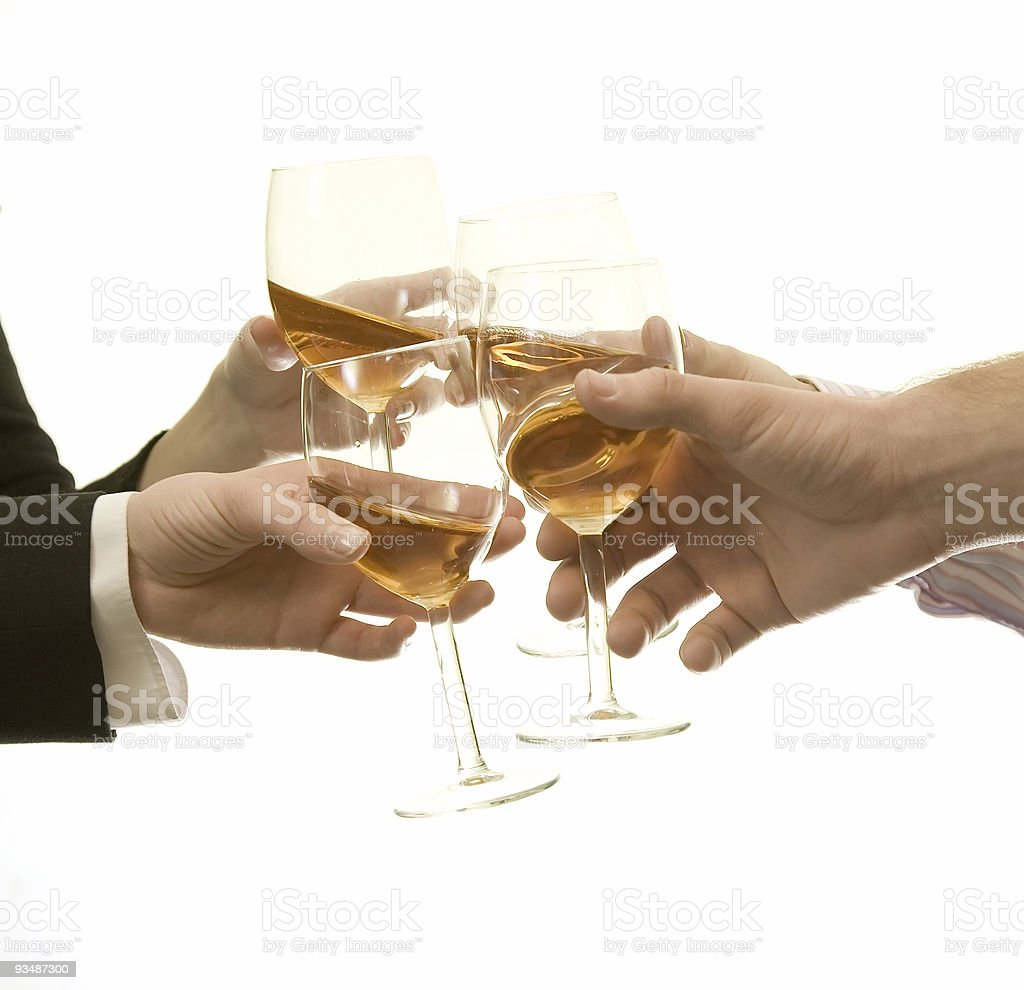 Glasses with wine royalty-free stock photo
