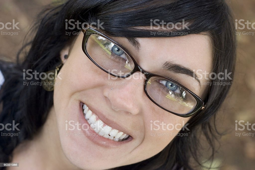 Glasses Woman royalty-free stock photo