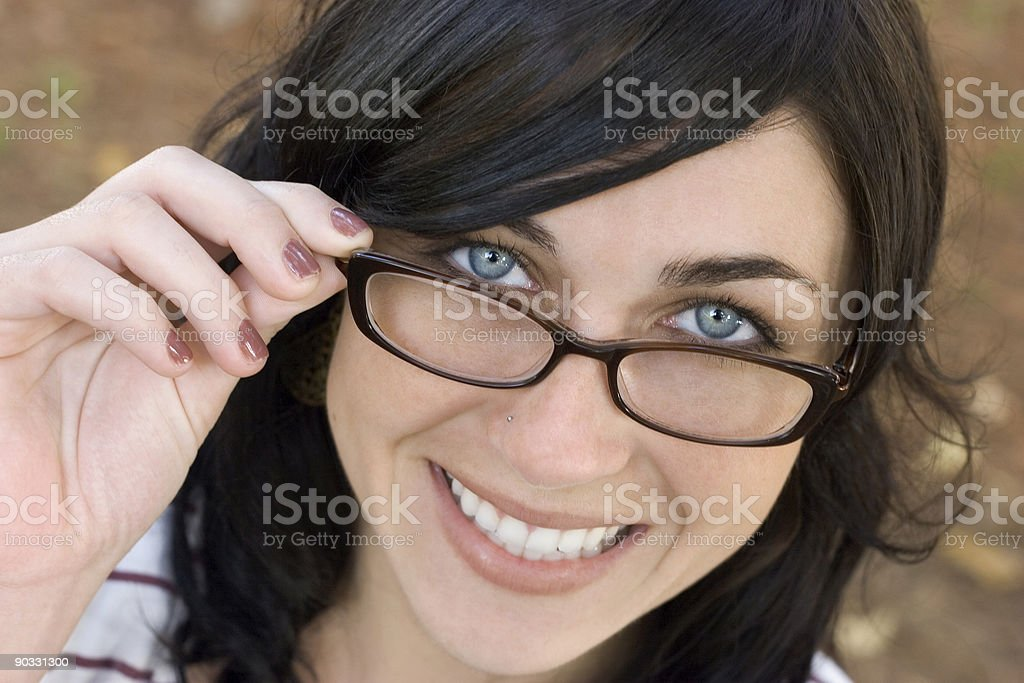 Glasses Woman stock photo