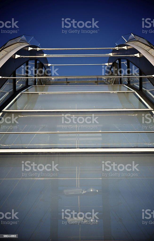 Glasshouse roof stock photo