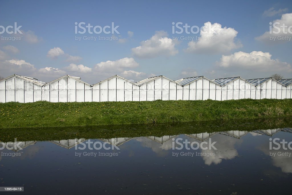 Glasshouses royalty-free stock photo
