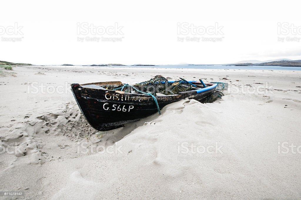 Glassilaun Boat stock photo