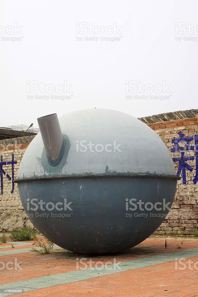 glass-steel gas tank royalty-free stock photo