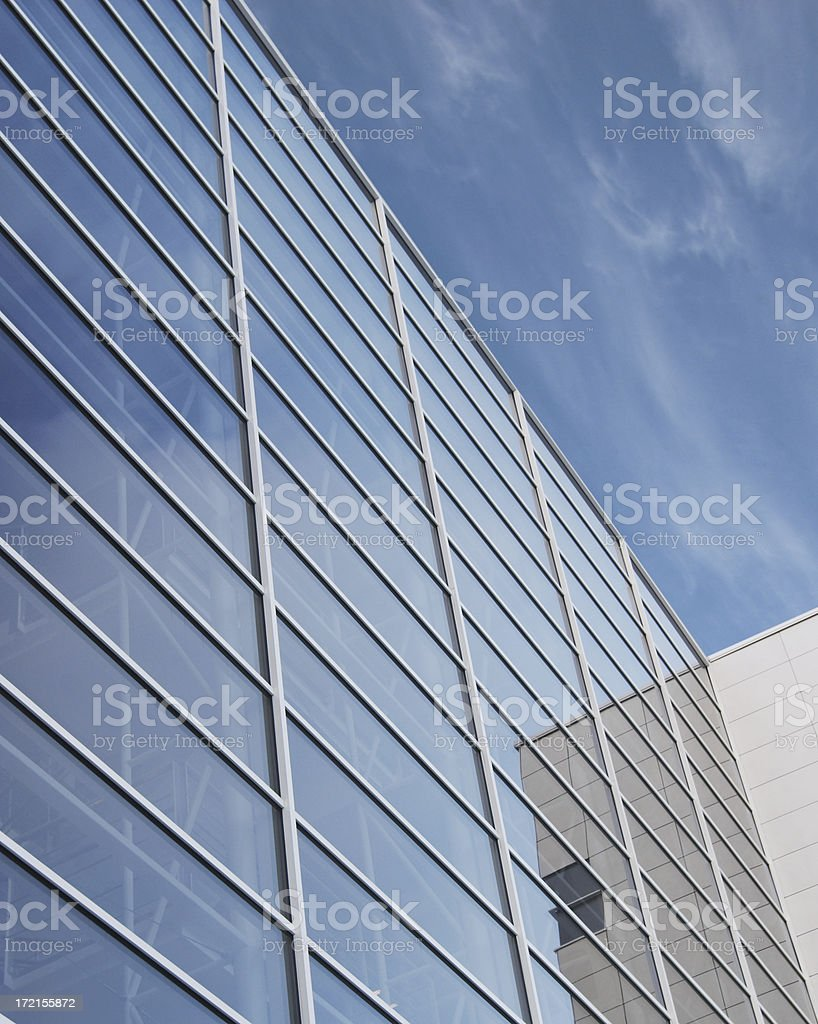 glasswall and blue sky royalty-free stock photo
