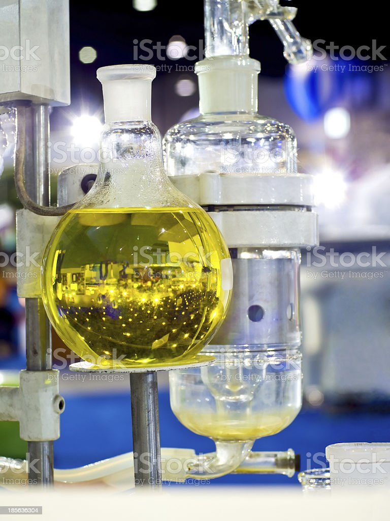 glassware in chemical laboratory royalty-free stock photo